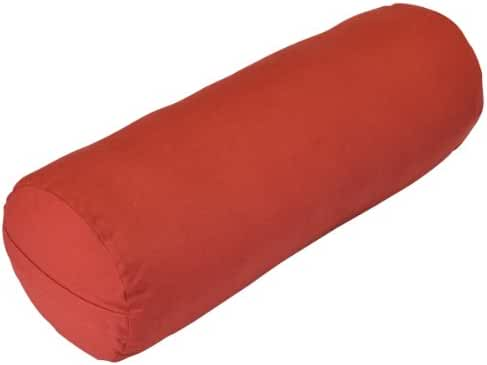 YogaDirect Supportive Round Cotton Yoga Bolster