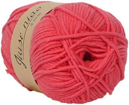 FiedFikt Hilo de algodón tejido a mano, 50 g lana de algodón de ...