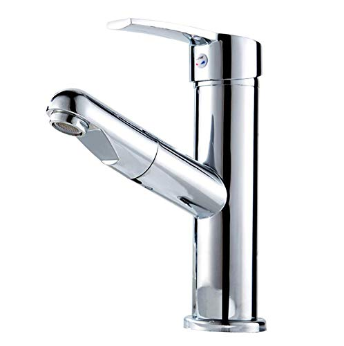 RedOOY Taps Copper Pull Faucet Basin Washbasin Hot And Cold Retractable Bathroom Cabinet Pull-Out Faucet Taps
