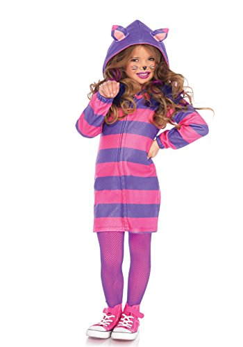 Leg Avenue Children's Wonderland Cheshire Cat Cozy Costume (Alice In Wonderland Childrens Costumes)
