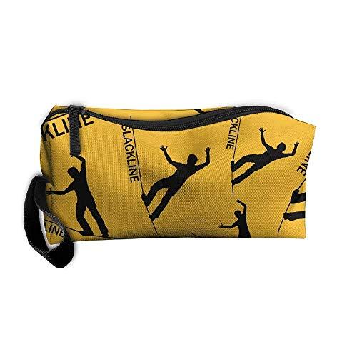 Slackline Lover 3D Print Women Waterproof Make-up Receive Bag Portable Handbag -