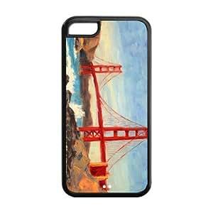 Custom Golden Gate Bridge Unique Iphone 5C Protective Rubber TPU cover