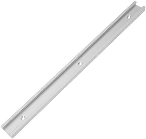 Barra para ingletadora de mesa estándar de 400 mm con ranura interna en forma de T para insertar accesorios de corte: Amazon.es: Bricolaje y herramientas