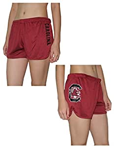 Womens SOUTH CAROLINA GAMECOCKS Dri-Fit Mesh Running / Athletic Shorts L Red