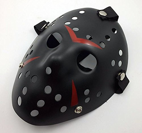 Gmasking Friday The 13th Horror Hockey Jason Vs. Freddy Mask Halloween Costume Prop (Black) (Hockey Mask Halloween Costume)
