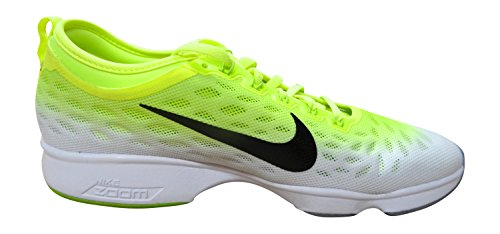 Nike Womens Zoom Fit Behendigheid Low Top Lace Up Running Sneaker Volt Zwart Wit Chartreuse 701