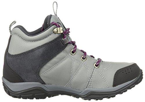 Columbia Women's Fire Venture Mid Textile Hiking Boot, Earl Grey, Dark Raspberry, 11 Regular US by Columbia (Image #5)