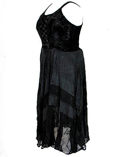 Gown XL Size Plus Star Black Long Gothic Velvet Corset 2X Renaissance Dark vnzHqxx