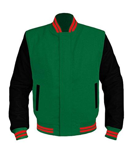 Black Leather Green Stripe - 9