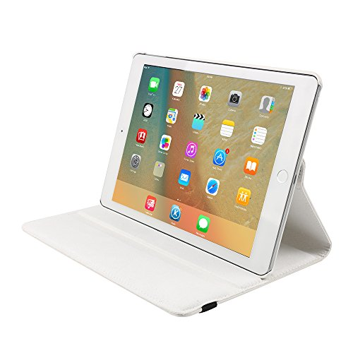 Price comparison product image iPad Pro 12.9 Shell Case, taStone 360 Degree Rotating Lightweight PU Leather Smart Cover with Auto Sleep / Wake Folding Multi-angle Viewing Folio Flip Case Screen Stand for iPad Pro 12.9 inch, White