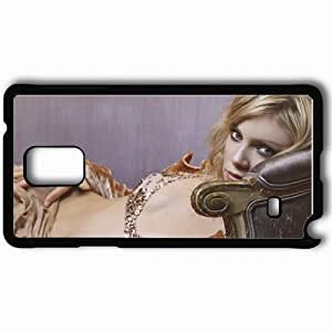 Personalized Samsung Note 4 Cell phone Case/Cover Skin Amy smart blonde sofa Actress Black