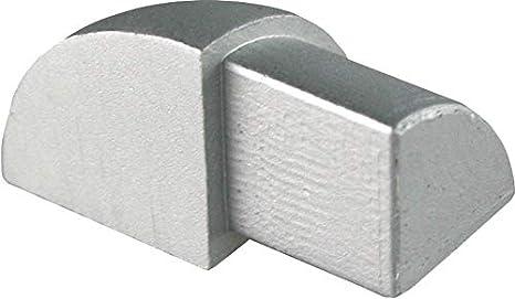 H: 12,5mm Viertelkreisprofil Aluminium Eloxiert silber matt Vollmaterial PREMIUM FUCHS Innenecke kein Abbl/ättern m/öglich