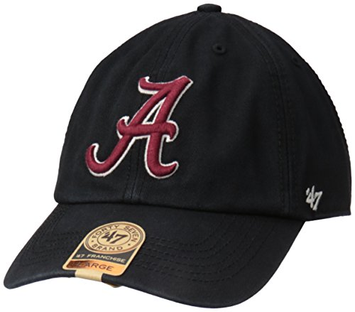 '47 NCAA Alabama Crimson Tide Franchise Fitted Hat, Black, Medium