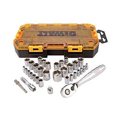 Stanley Consumer Tools DWMT73804 34-Pc. Socket Set, 1/4 & 3/8-In. Drive