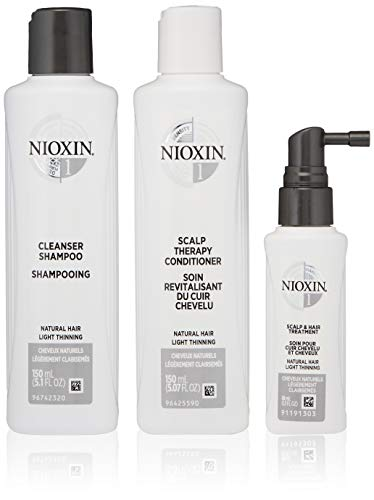 Nioxin 1 Cleanser - Nioxin Hair System Care Trial Kit, System 1 (Fine Hair/ Normal to Light Thinning), 3 ct.