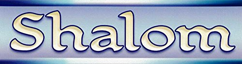 (Infamous Network Shalom - Small Magnetic Bumper Sticker/Decal Magnet (5.5