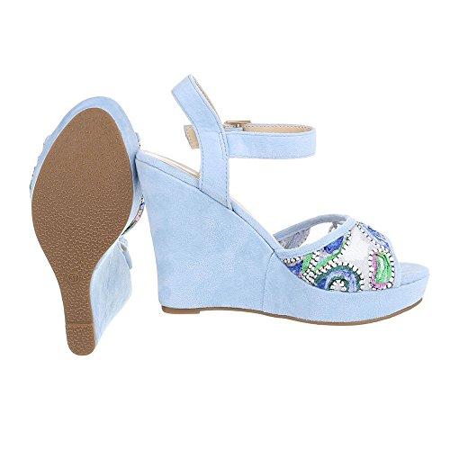 Ital-Design - Plataforma Mujer azul claro