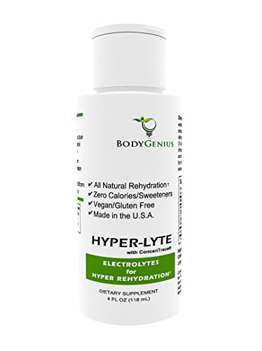 Body Genius, Liquid Electrolytes with Concentrace for Electrolyte Rehydration with Magnesium, Potassium (No Calories, Sugar or Additives), 48 Servings