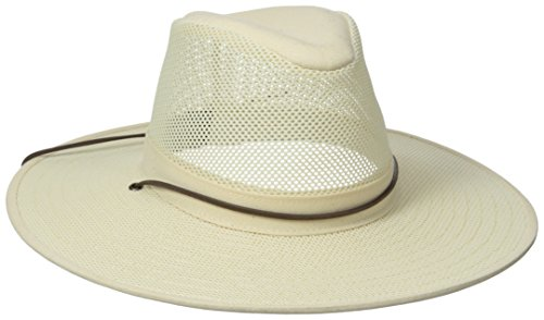 Henschel Crushable Soft Mesh Aussie Breezer Hat, Natural, Medium