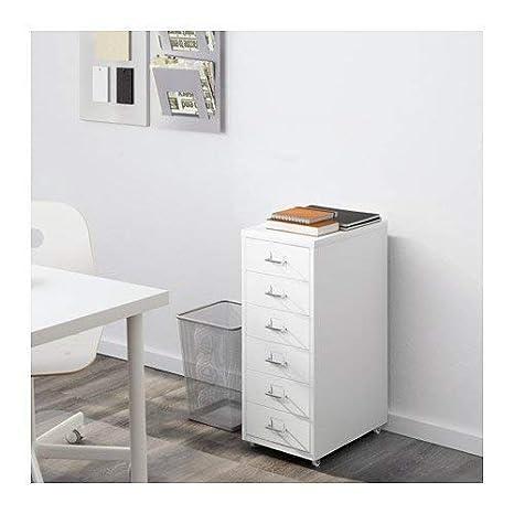 Amazon.com: Ikea Helmer Cajonera con ruedas, Acero, Gris ...