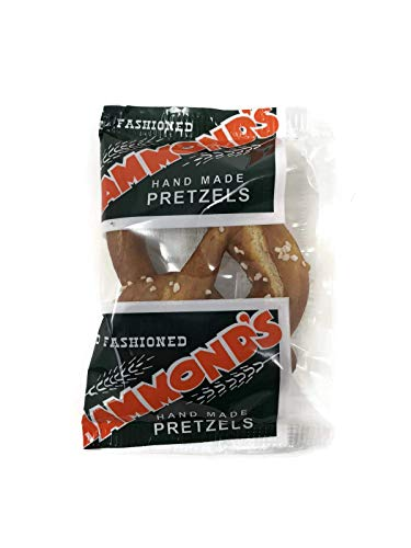 Hammond's Hand Made Pretzels, Individual Packaged Snack Packs, Set of 20