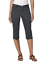 Gloria Vanderbilt Ladies' Anita Belted Capri Casual Summer Pants