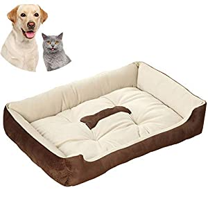 Galaxer Cama para Perros, Perro Gato 70*52cm Mascota Colchón Lavable Almohada Cojín Suave y Cálida Cama de Algodón PP…