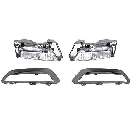 Lights Fits 2013-2015 Honda Accord | 4Dr Sedan Clear Lens Bumper Driving Fog Lights Lamps Bulbs by IKON MOTORSPORTS | 2014