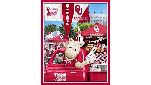 (University of Oklahoma Cotton Fabric Panel with Tailgate Design-Sold by The Panel)