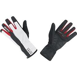 GORE BIKE WEAR Power Windstopper Soft Shell - Guantes de ciclismo para hombre, color negro/blanco, talla 8