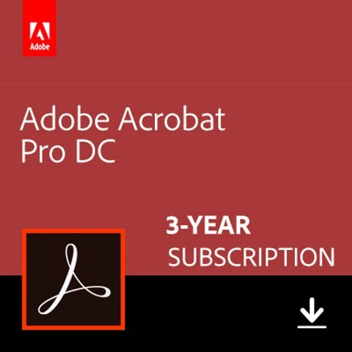 Adobe Acrobat Pro DC 3-YEAR Subscription [PC/Mac Online Code] by Adobe