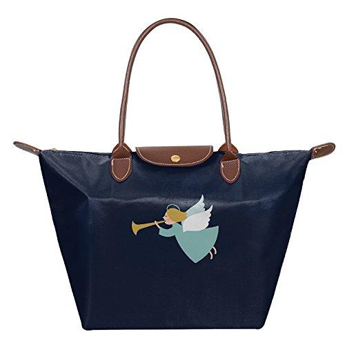 Ladies Christmas Large Tote Bags,Multifunction Waterproof Shoulder Handbags With (Halloween Space Miami)