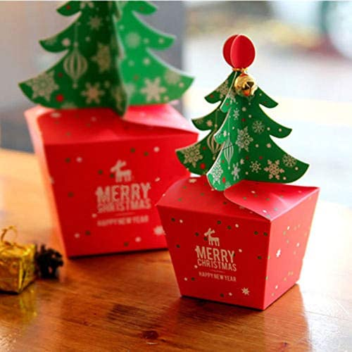 Kids Favors Gift Package Paper Carrier Christmas Decoration Candy Box Xmas Bags