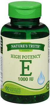 Nature's Truth High Potency E 1000 IU Vitamin Supplement - 60 Softgels, Pack of 5 by Nature's Truth