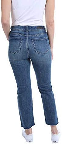 41jXd7EmFbL. AC Kenneth Cole Ladies' Button Fly High Rise Straight Leg Comfort Stretch Jean    <p> Price: (as of  - Details)</p>