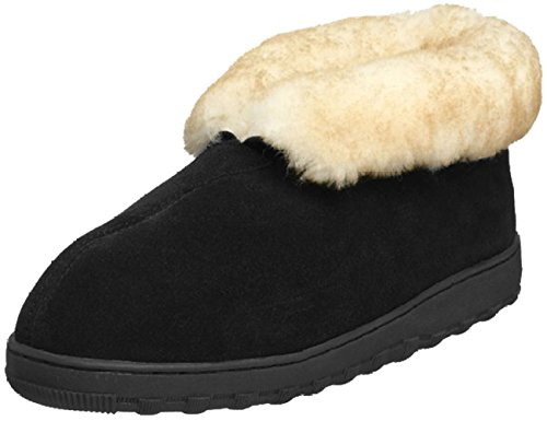 Tamarac by Slippers International Men's Highlander Shearling Slipper,9 D(M) US,Black.Black (Slippers Ankle Boot Sheepskin)
