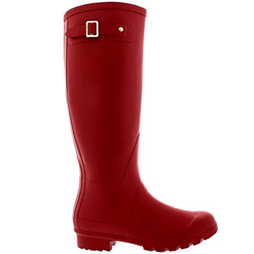 Boots Original Red Winter Wellington Dark Wellies Rain Tall Waterproof Womens Snow 1dqwv18