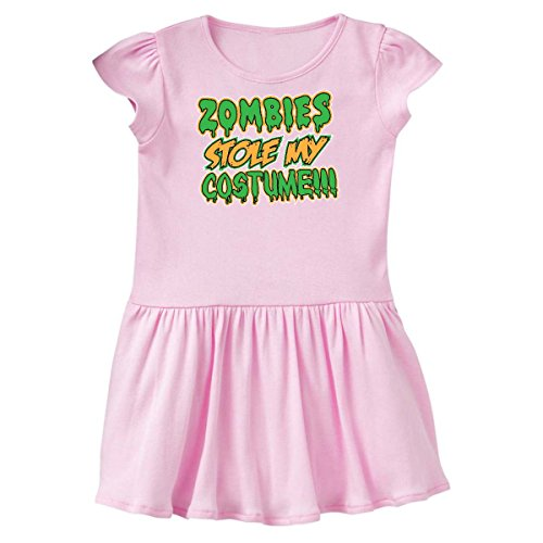inktastic - Zombies Stole My Costume!!! Toddler Dress 4T Ballerina Pink 1aa81 -