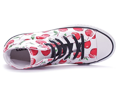 Hi Graphic Converse Adulte Blanc Toile High Sneaker Bianco Mixte Taylor Chuck Canvas UIIwEx1H