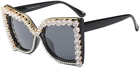 Gafas de Sol de Lujo de Cristal de Gran tamaño para Las ...