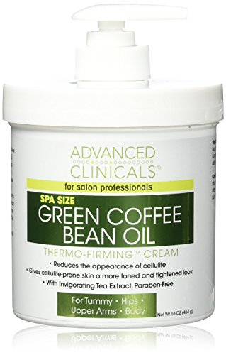 Advanced Clinicals Green Coffee Bean Oil Thermo-firming Body Cream 16oz Spa (Firming Body Oil)