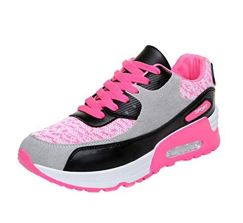 Vokamara Women Pink Wedge Sneaker Fashion Gym Athletic shoes 38