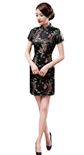 Coolred-Women Sexy Classic Lounge Bodycon Chinese Evening Short Dress 16 5XL