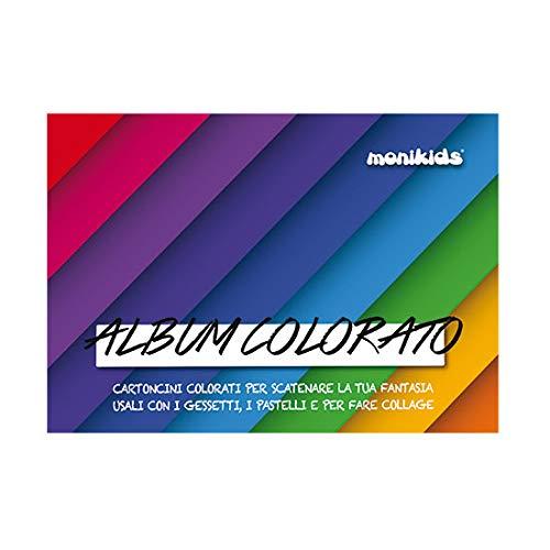 Blocco Disegno Fogli Colorati 24X34 160Gr 10Fg Nikoffice