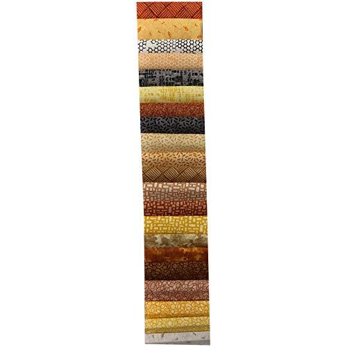 (Midwest Textiles Sit 'n Sew Precut Quilters Stash 2.5'' Strips 40 Pcs. Fall Blender)