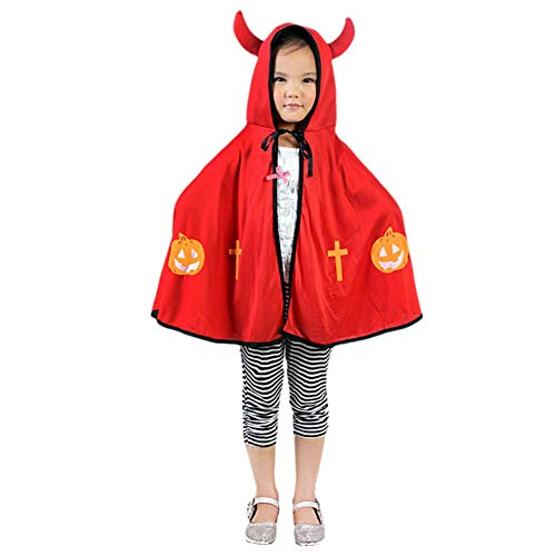 Timall Unisex Children Halloween Baby Costume Ox Horn Cloak Cape Robe Cosplay Party Costume Accessories