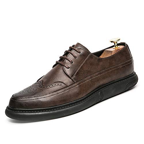 tinta Oxford unita EU Dimensione Marrone tinta scarpe unita all'abrasione Sunny Marrone amp;Baby Resistente Color brogue Business 38 suola scolpito uomo da classico Casual CEwv01wqx