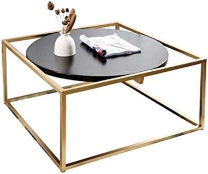 Goedkoop MBZL bijzettafel koffietafel, Black Wood salontafel End bijzettafel met metalen poten woonkamer slaapkamer tafels met opslag  RiHPjCj