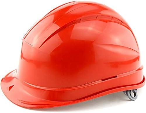 ヘッド保護 建設ヘルメット - ABSヘルメット断熱キャップ8点ライニング 作業安全装置 (色 : オレンジ)