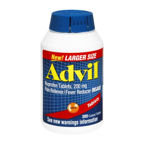 Advil Ibuprofen 200mg Coated Tablets , 300 CT (Pack of 3) by Advil